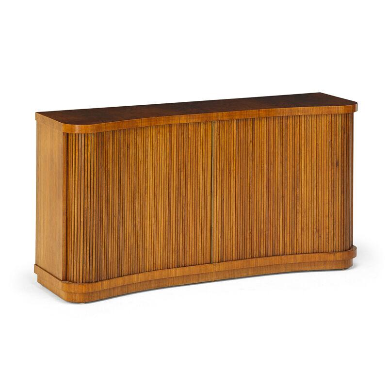 Vladimir Kagan, 'Tambour Cabinet, USA', 1940s, Design/Decorative Art, Walnut, Brass, Rago/Wright