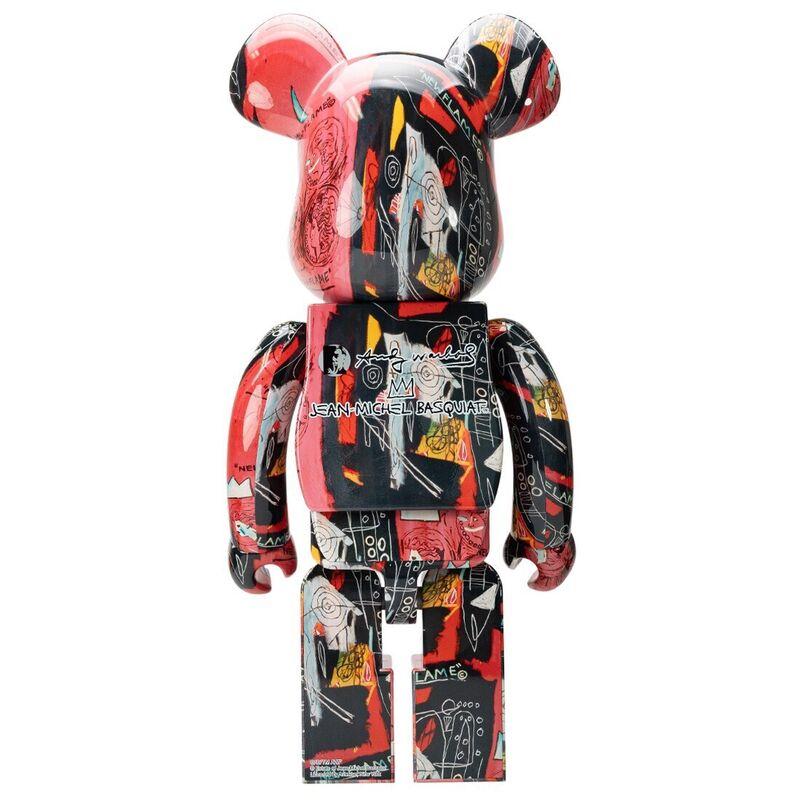 Jean-Michel Basquiat, 'Warhol Basquiat Bearbrick 400% (Warhol Basquiat BE@RBRICK)', 2021, Sculpture, Vinyl paint, cast resin, Lot 180