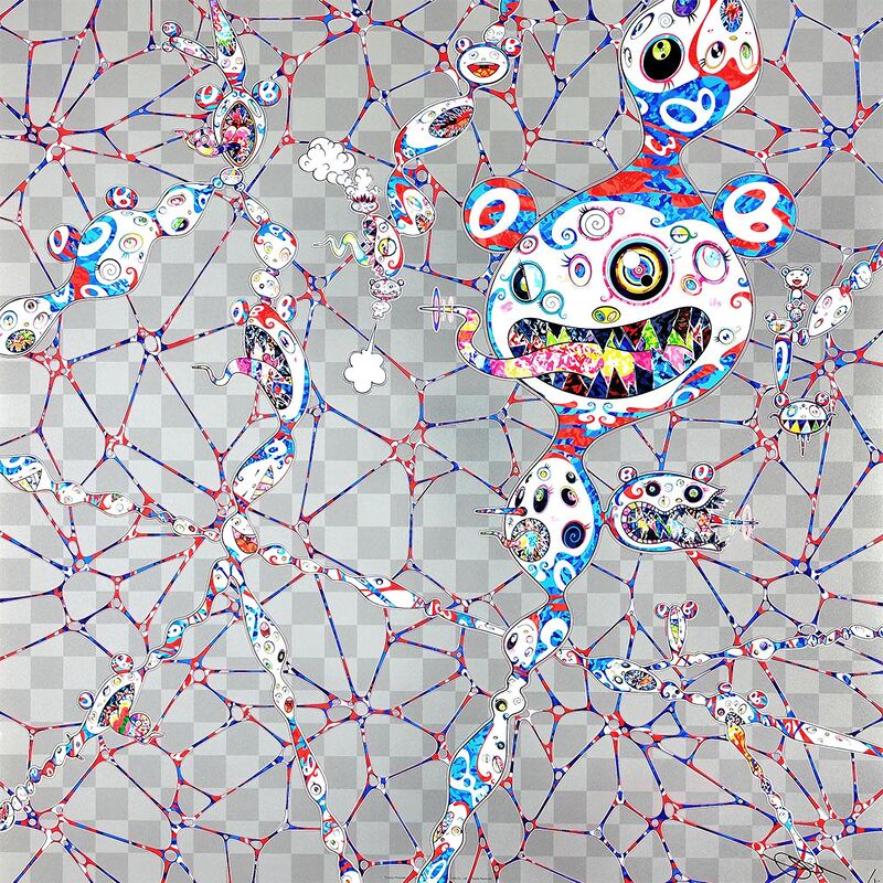 Takashi Murakami, 'Chaos: Primordial Life', 2017, Print, Offset lithography 4C process with cold stamp, Pinto Gallery