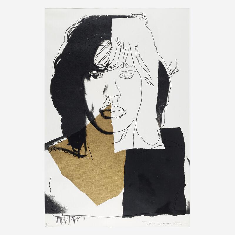 Andy Warhol, 'Mick Jagger', 1975, Print, Color screenprint on Arches Aquarelle (Rough) paper, Freeman's