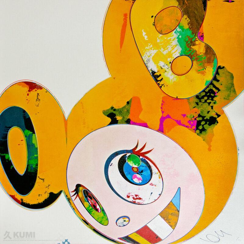 Takashi Murakami, 'And Then x6 Yellow Universe', 2013, Print, Lithograph, Kumi Contemporary / Verso Contemporary