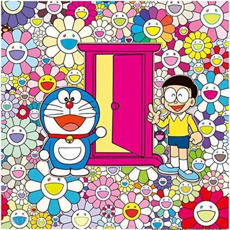 Takashi Murakami, 'Anywhere Door (Dokodemo Door) in the Field of Flowers', 2020, Print, Silkscreen, Curator Style