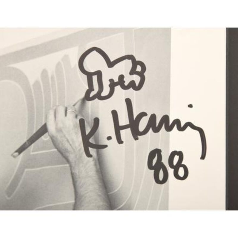 Keith Haring, 'Signed Drawing on Exhibition Catalog', 1988, Drawing, Collage or other Work on Paper, Marker on Paper, Rosenfeld Gallery LLC