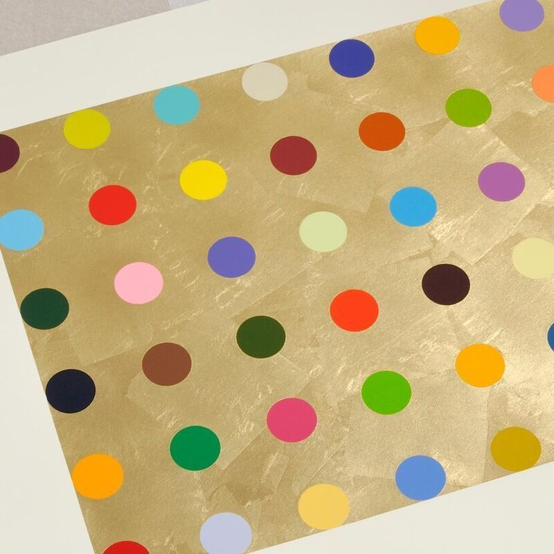 Damien Hirst, 'Damien Hirst, Gold Thioglucose', 2008, Print, Silkscreen on Gold Leaves, Oliver Cole Gallery