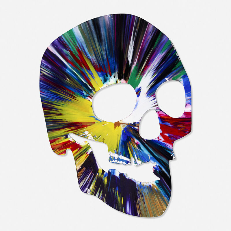 Damien Hirst, 'Skull Spin Painting', 2009, Painting, Acrylic on paper, Rago/Wright