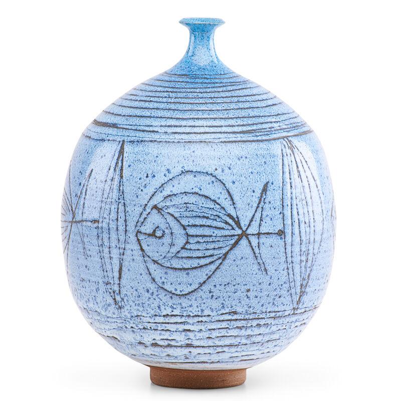 Antonio Prieto, 'Vase with fish, California', Design/Decorative Art, Glazed stoneware, Rago/Wright/LAMA