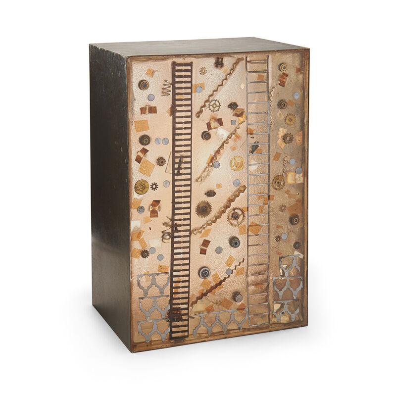 Feliciano Bejar, 'Magiscope Box, Mexico', second half of the 20th C., Design/Decorative Art, Brass, Acrylic, Glass, Metal, Watch Parts, Rago/Wright