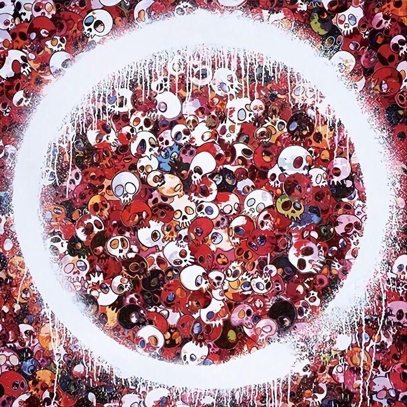 Takashi Murakami, 'Enso: Memento Mori Red', 2016, Print, Offset Lithograph, Pinto Gallery