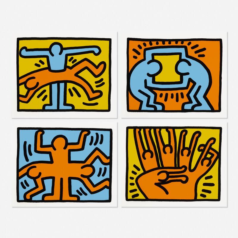 Keith Haring, 'Pop Shop VI (four works)', 1989, Print, Screenprint in colors, Rago/Wright/LAMA