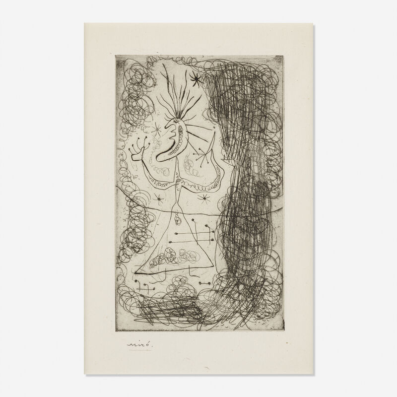 Joan Miró, 'Untitled from Stephen Spender's Fraternity', 1939, Print, Etching on Montvale paper, Rago/Wright