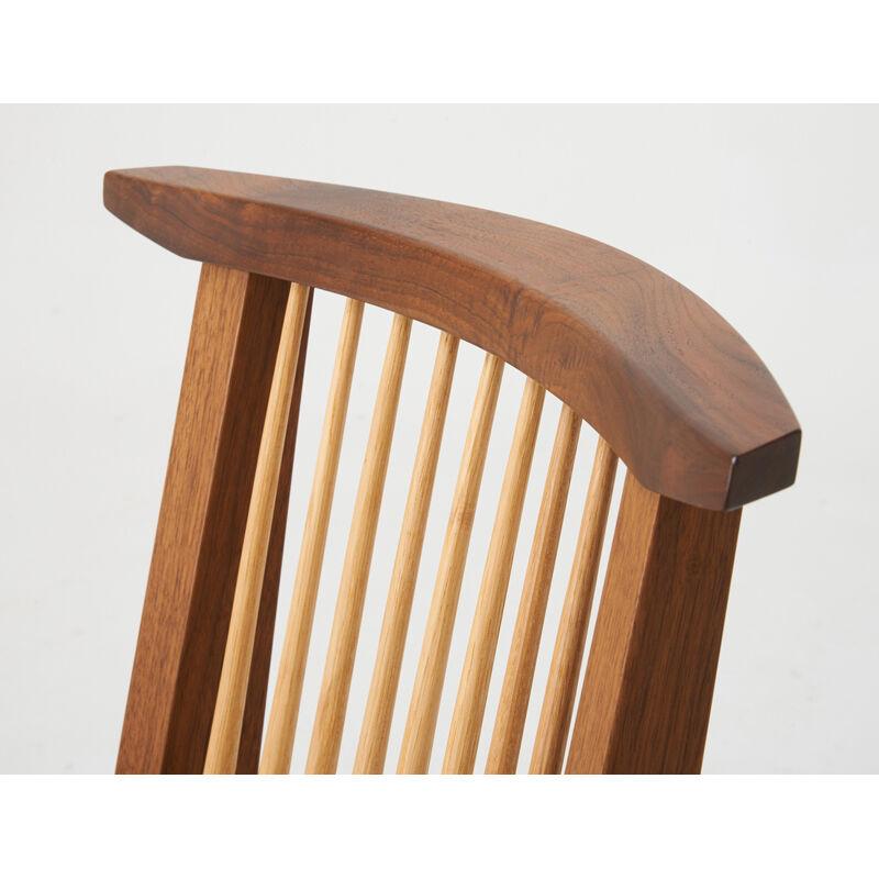 Mira Nakashima, 'Four Conoid Chairs, Two Arm, Two Side, New Hope, PA', 2000, Design/Decorative Art, Walnut, Hickory, Rago/Wright/LAMA