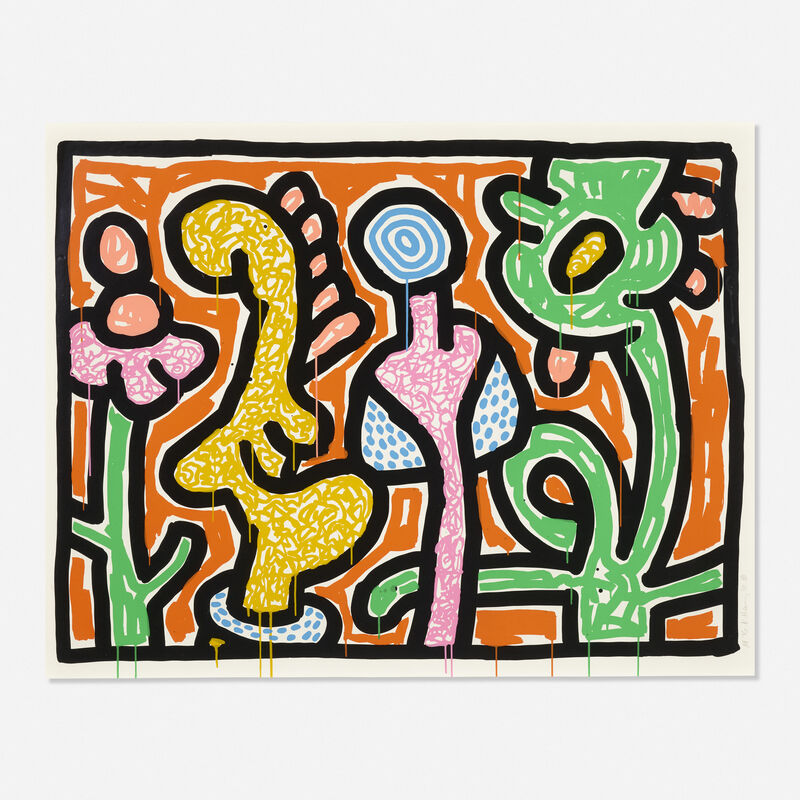 Keith Haring, 'Flowers IV', 1990, Print, Screenprint in colors on Coventry paper, Rago/Wright/LAMA