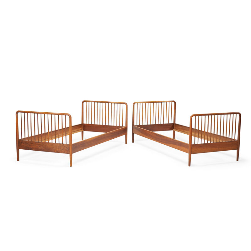 Ole Wanscher, 'Pair Of Twin Beds, Denmark', 1950s, Design/Decorative Art, Teak, Rago/Wright