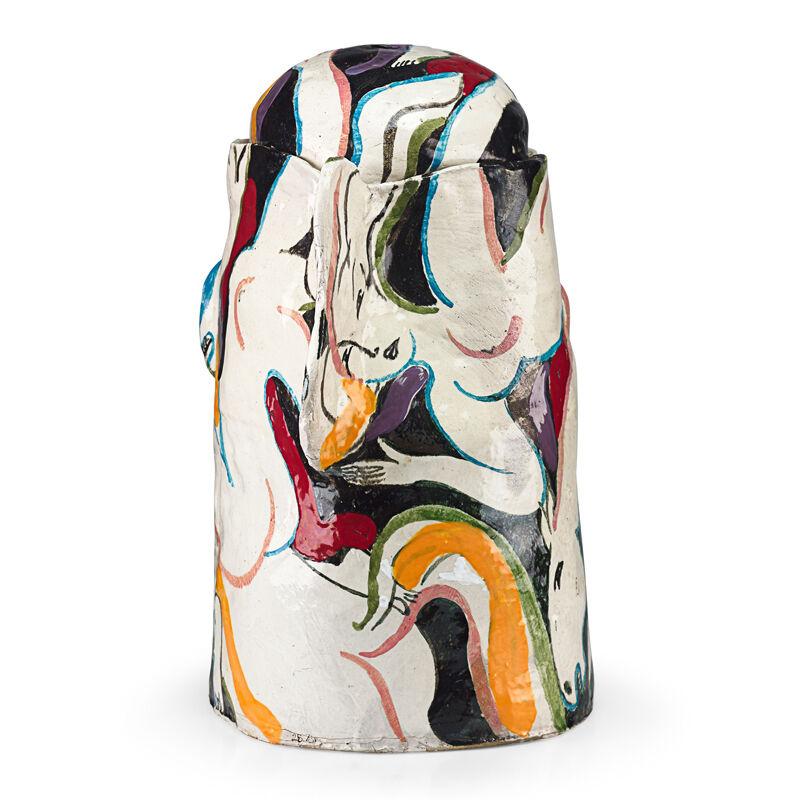 Rudy Autio, 'Massive lidded sculptural vessel (Women on Horseback), Missoula, MT', 1983, Design/Decorative Art, Hand-built glazed earthenware, Rago/Wright/LAMA