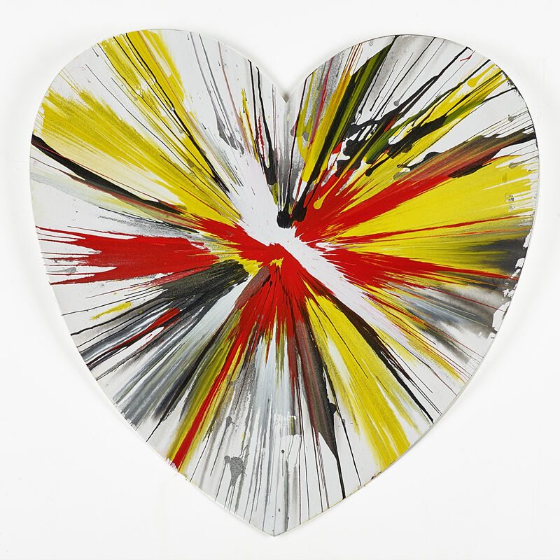 Damien Hirst, 'Heart Spin Painting (Created at  Damien Hirst Spin Workshop)', 2009, Acrylic on paper, Rago/Wright