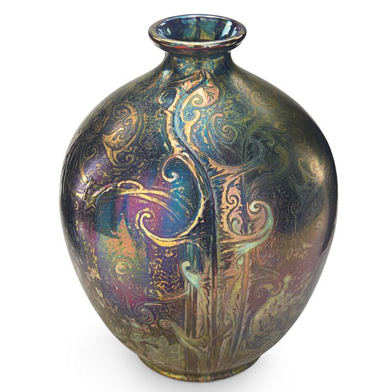Jacques Sicard, 'Weller, Large Vase With Modeled Dandelions, Zanesville, OH', 1903-17, Design/Decorative Art, Rago/Wright