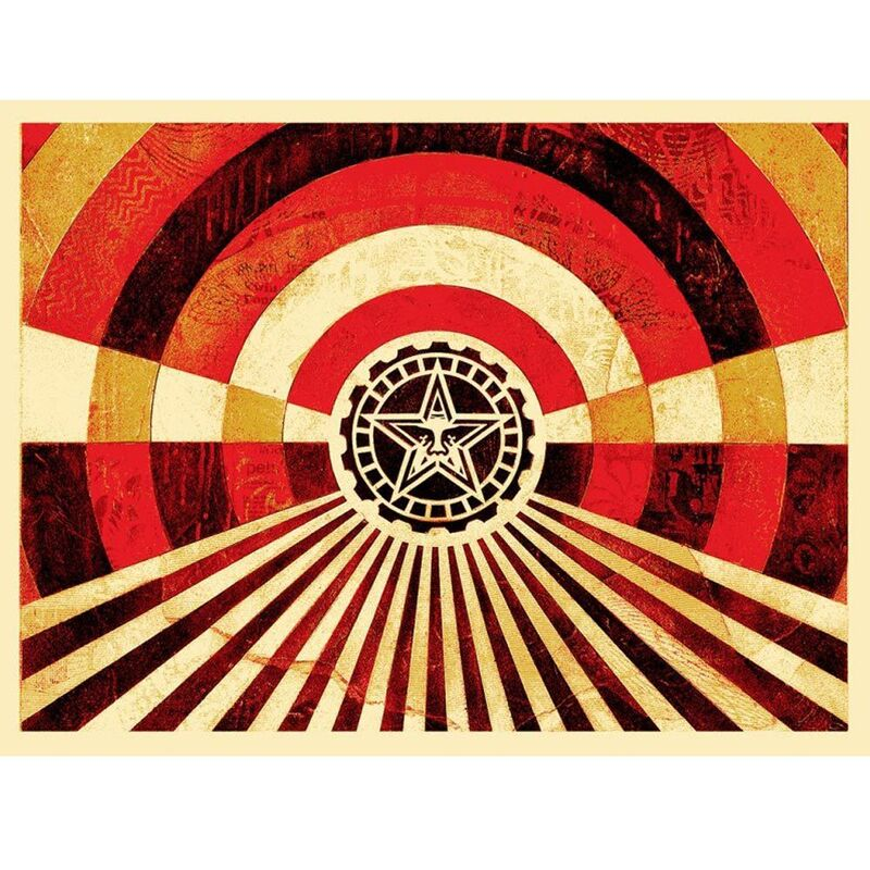 Shepard Fairey, 'Tunnel Vision Gold Edition', 2017, Print, Cream Speckletone Special Edition, New Union Gallery