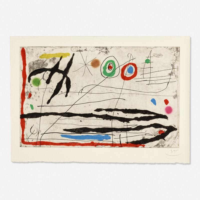 Joan Miró, 'Trace Sur La Paroi I', 1967, Print, Etching, aquatint and carborundum in colors on Mandeure rag paper, Rago/Wright/LAMA