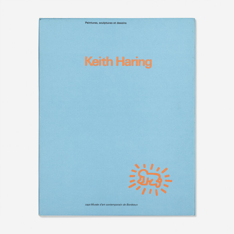 Keith Haring, 'Drawing in exhibition catalog from CAPC Museum of Contemporary Art, Bordeaux, France', 1985, Drawing, Collage or other Work on Paper, Marker on first page, Rago/Wright