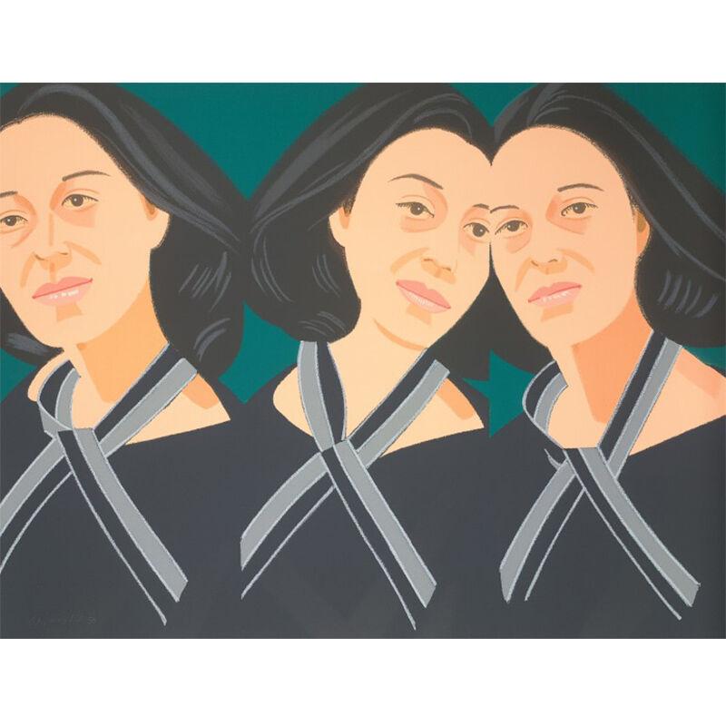 Alex Katz, 'Gray Ribbon', 1990, Print, Screenprint in colors, David Benrimon Fine Art