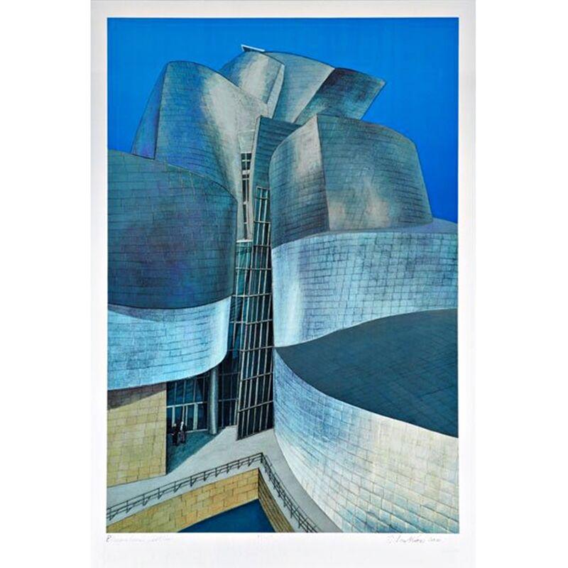Richard Haas, 'GUGGENHEIM MUSEUM BILBAO', 2000, Print, Silkscreen and Lithograph on Aluminum Sheet, Alpha 137 Gallery