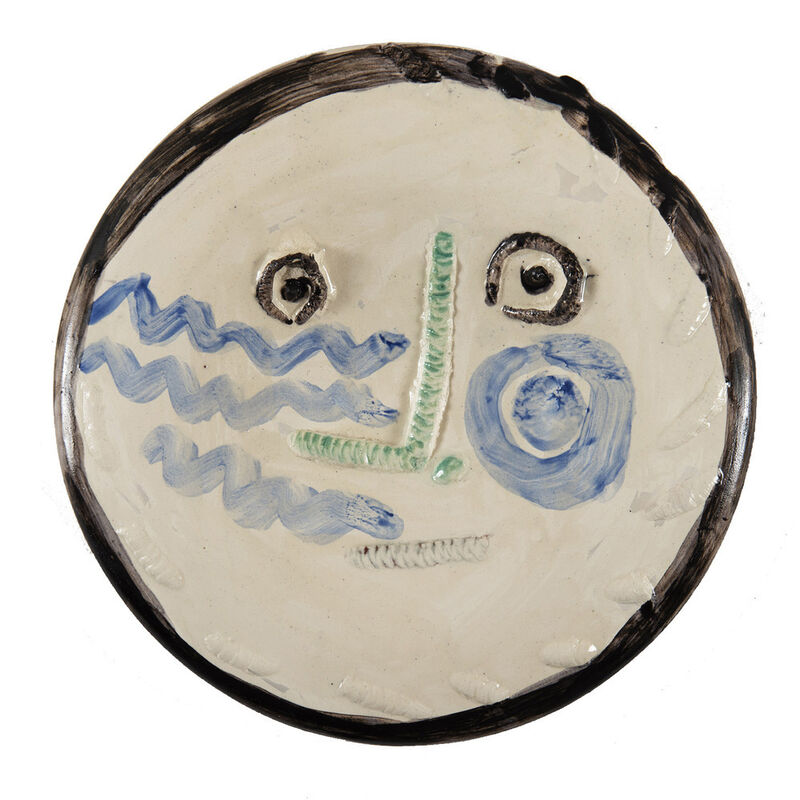 Pablo Picasso, 'Visage', 15.7.1963, Design/Decorative Art, Painted, modeled and glazed ceramic, HELENE BAILLY GALLERY