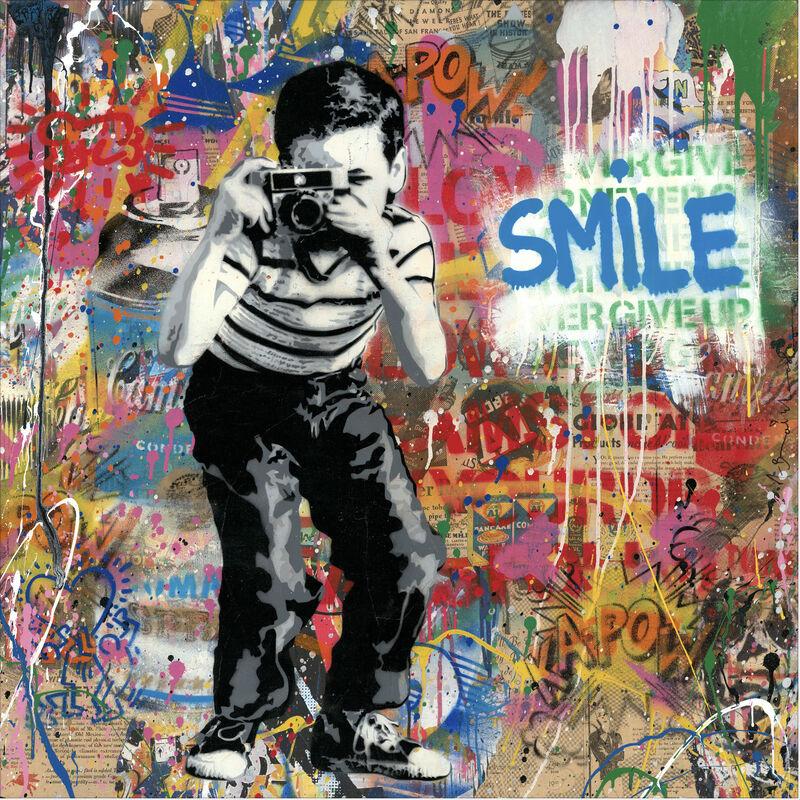 Mr. Brainwash, 'Smile', 2019, Mixed Media, Silkscreen, Mixed Media on Paper, Nine Way Fine Art