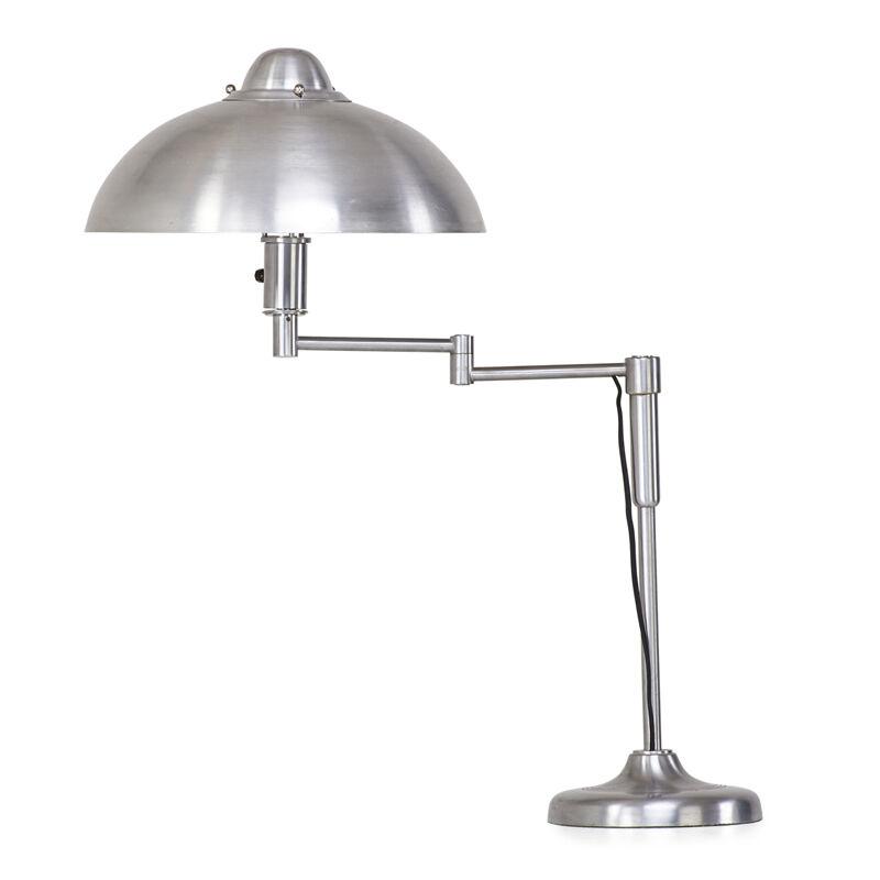 Kurt Versen, 'Adjustable Table Lamp, New York', 1920s, Design/Decorative Art, Aluminum, matte-chromed steel, single socket, Rago/Wright