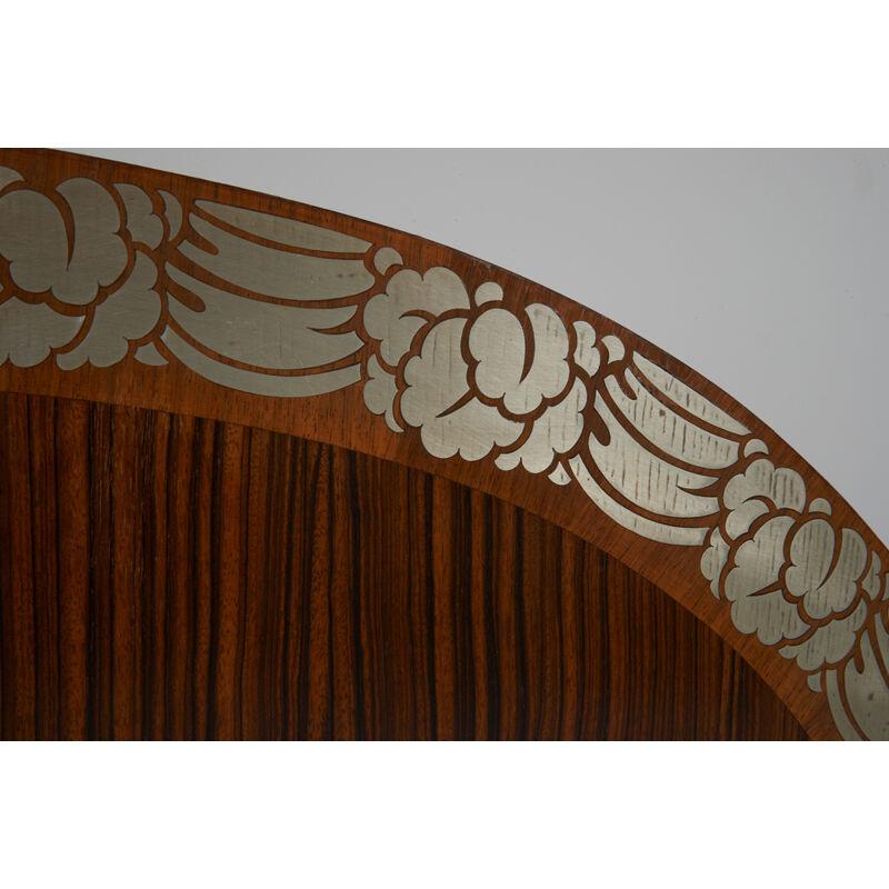 Eric Bagge, 'Full-Sized Art Deco Inlaid Bed, France', 1920s, Design/Decorative Art, Walnut, Rosewood, Inlaid Pewter, Rago/Wright/LAMA