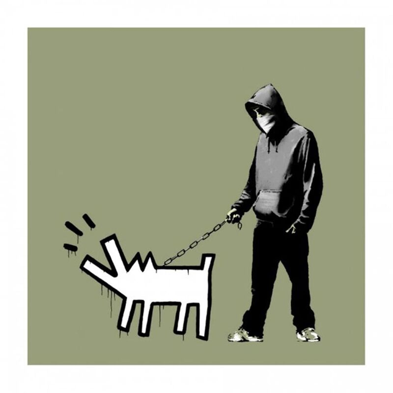 Banksy, 'Choose Your Weapon (Olive) - Signed ', 2010, Print, Screen print on paper, Hang-Up Gallery