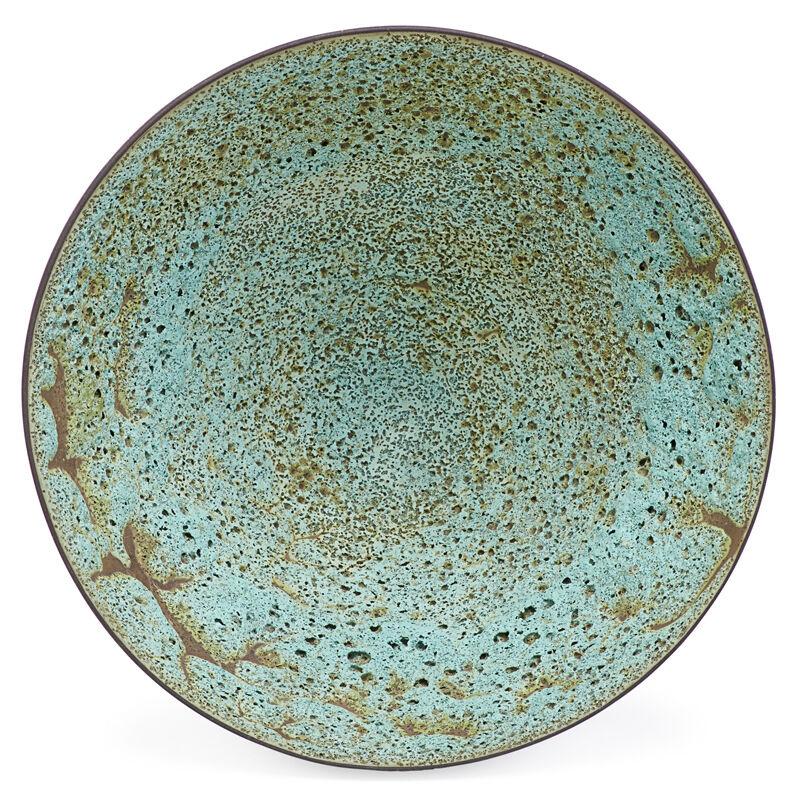 James Lovera, 'Large Bowl, San Francisco, CA', Design/Decorative Art, Green Volcanic Glaze, Rago/Wright