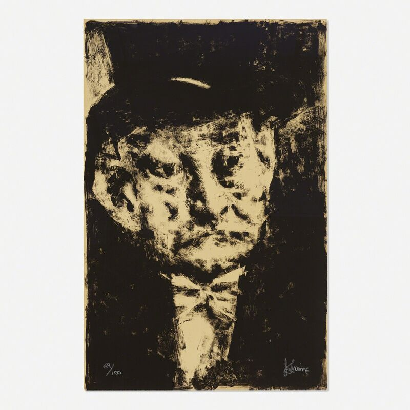 Jack Levine, 'Thought', c. 1965, Print, Lithograph on paper, Rago/Wright