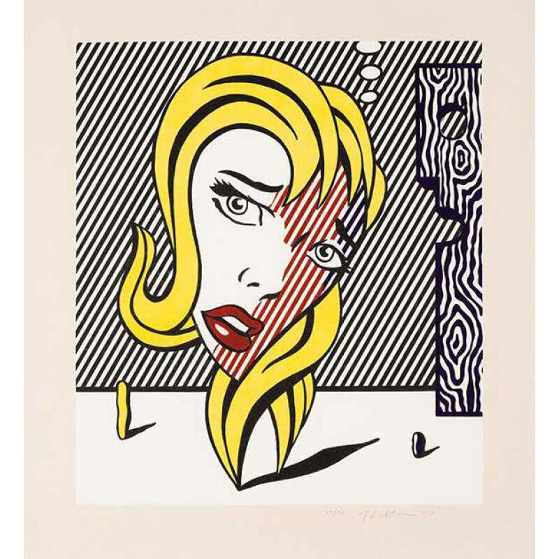 Roy Lichtenstein, 'BLONDE', 1978, Print, Lithograph on Arches Paper, Marcel Katz Art