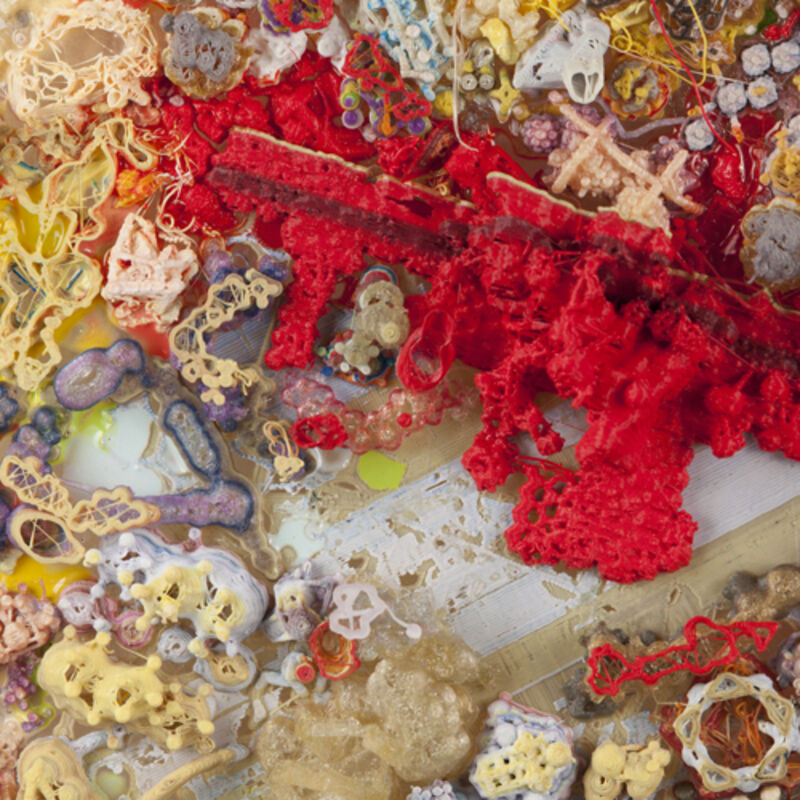 Shane Hope, 'Sentient-Soppin' See-Source-Serum', 2012, Mixed Media, 3D-printed PLA molecular models on acrylic substrate, Winkleman Gallery