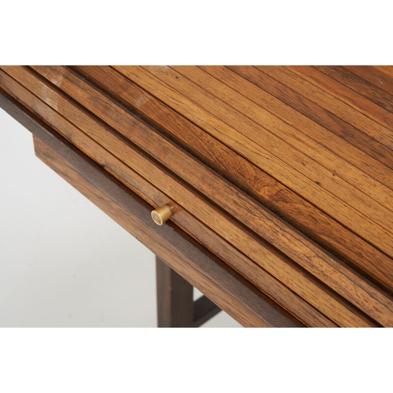 Edward Wormley, 'Tambour Desk (No. 912), Berne, IN', 1950s, Design/Decorative Art, Lacquered Rosewood, Walnut, Oak, Brass, Rago/Wright