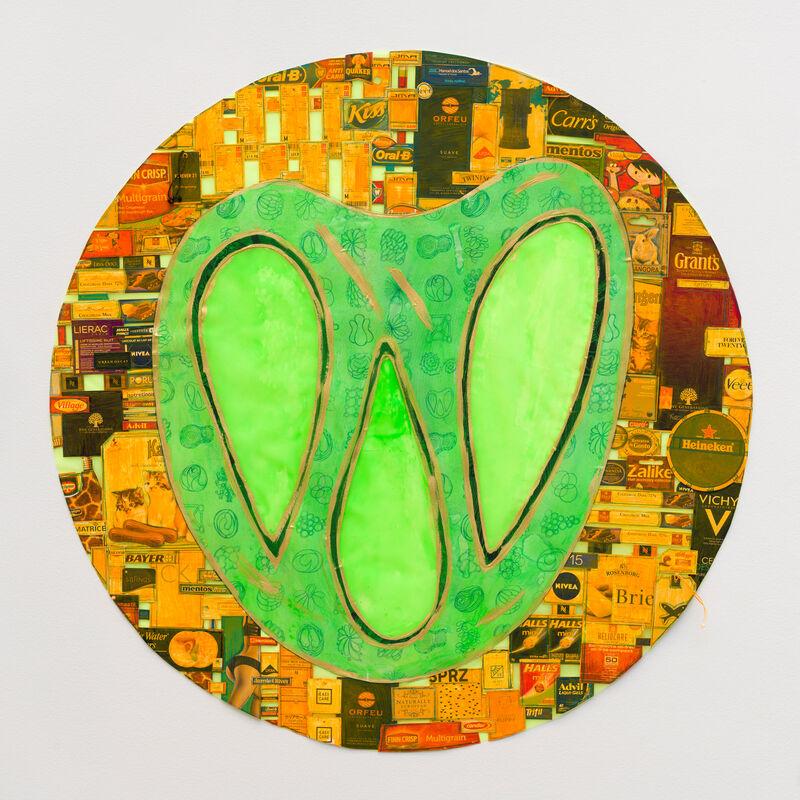 Leda Catunda, 'Pretzel', 2018, Drawing, Collage or other Work on Paper, Collage, Fortes D'Aloia & Gabriel