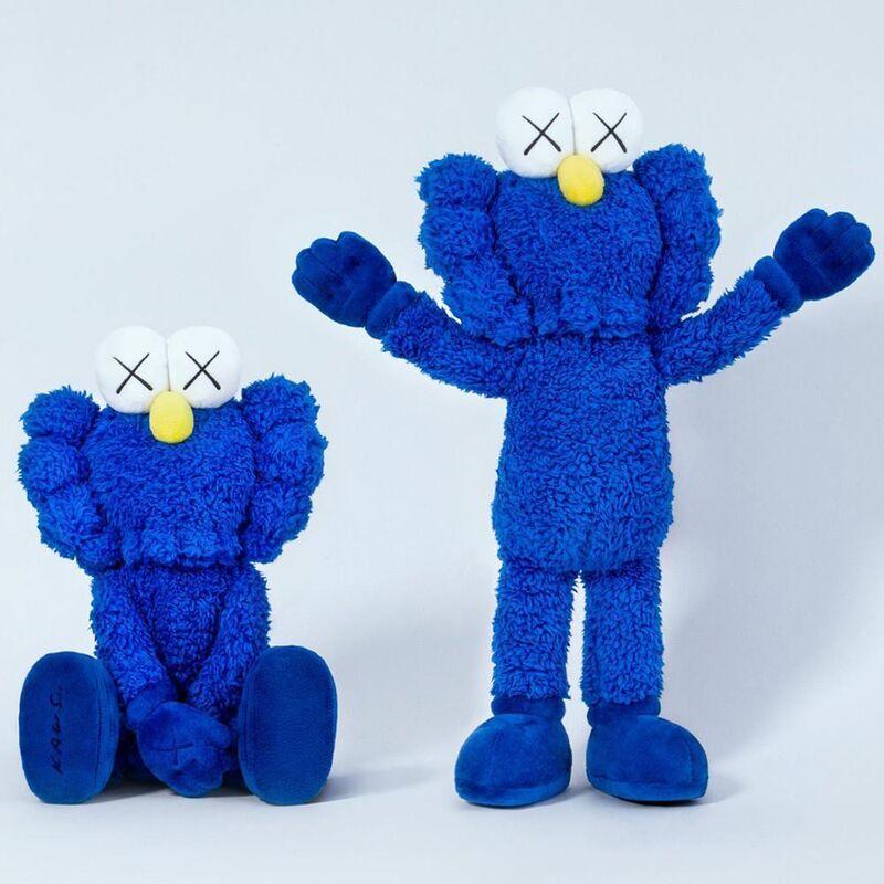 KAWS, 'BFF PLUSH (BLUE)', 2016, Sculpture, Plush, Marcel Katz Art
