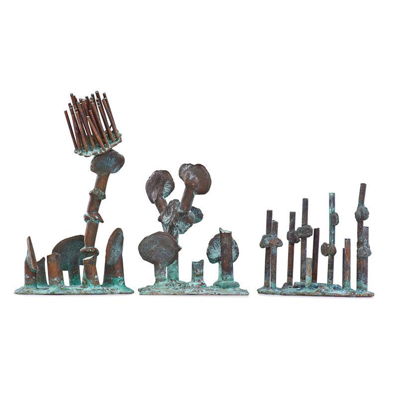 Klaus Ihlenfeld, 'Three Tropical Plants Sculptures, Berks County, PA', 2000s, Sculpture, Oxidized phosphor bronze, Rago/Wright/LAMA