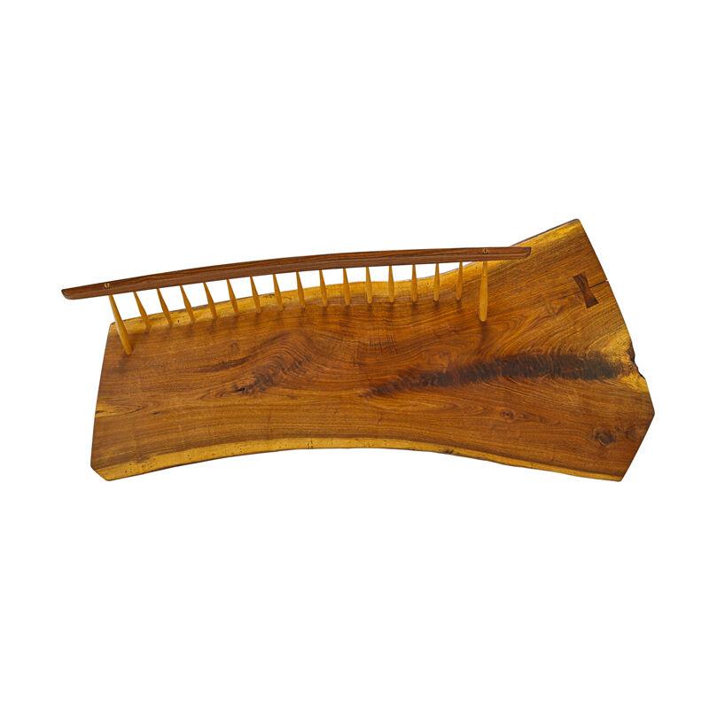 Mira Nakashima, 'Conoid Bench, New Hope, PA', 2003, Design/Decorative Art, Figured Walnut, Rosewood, Hickory, Rago/Wright/LAMA
