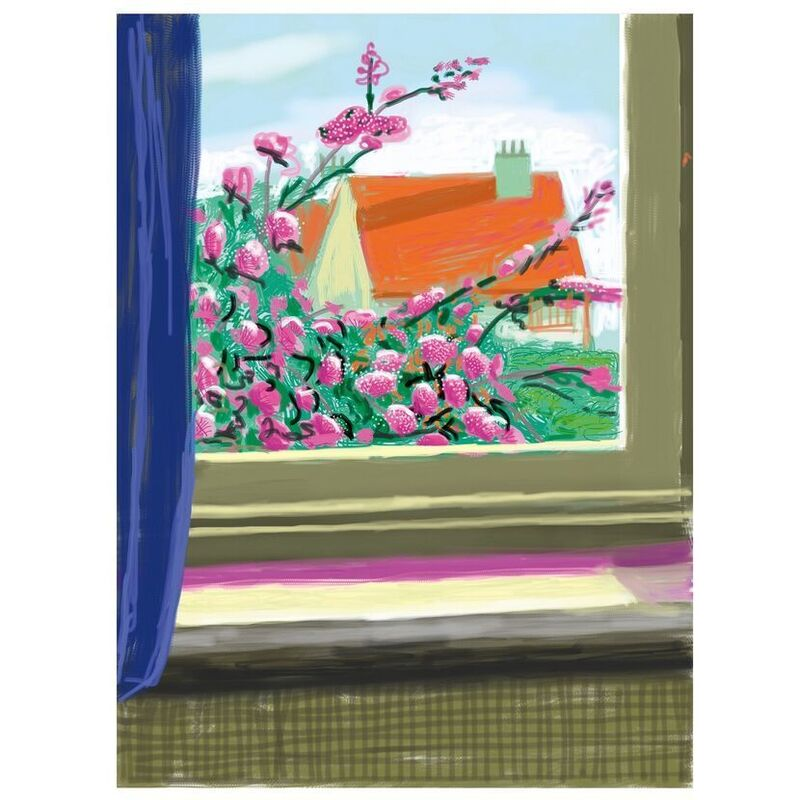 David Hockney, 'No. 778, 17th April', 2019, Print, 8-color inkjet print on cotton-fiber archival paper (iPad drawing ), Weng Contemporary
