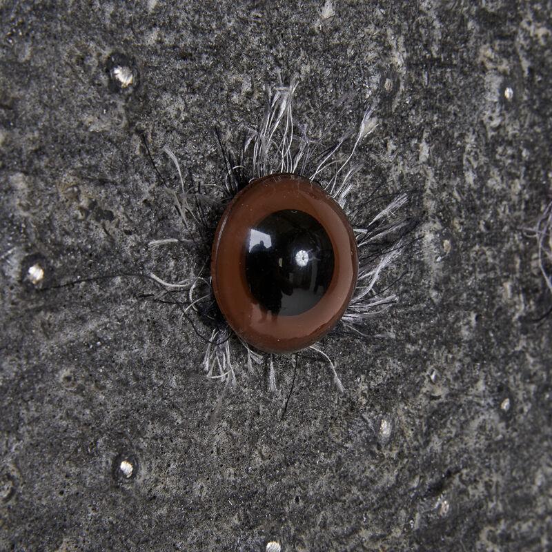 Clare Graham, 'Brown Teddy Bear Eyeballs Cabinet, Los Angeles, CA', 2000s, Design/Decorative Art, Silvered gesso over wood, plastic eyeballs, silk threads, Rago/Wright