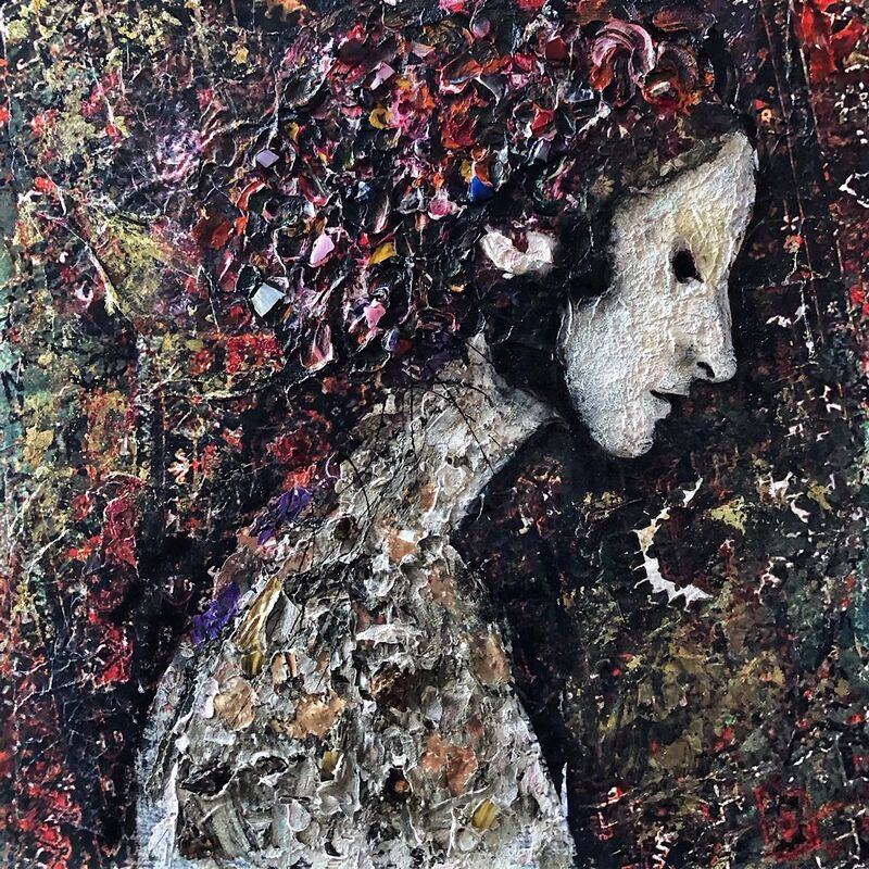 SylT, 'Augustina', 2020, Painting, Mixed media on board, Thompson Landry Gallery