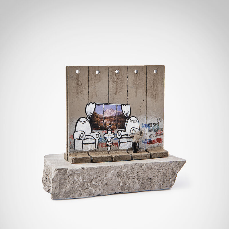 Banksy, 'Walled Off Hotel - Alpine View', Sculpture, Five-part Souvenir Wall Section, hand-painted resin sculpture with West Bank Separation Wall base, Tate Ward Auctions