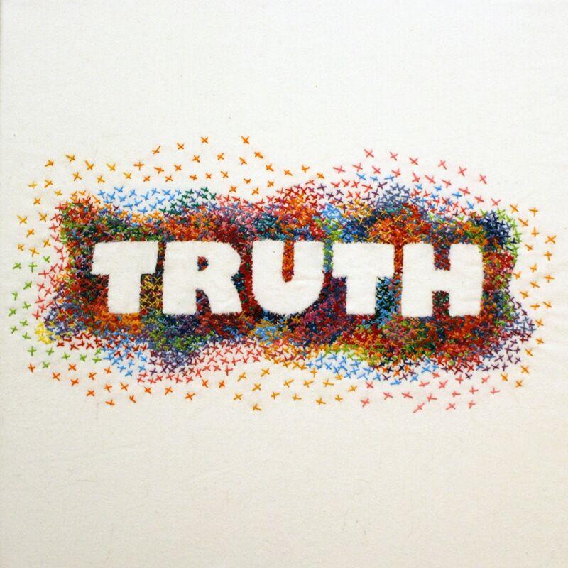 Diane Schneck, 'Truth', 2017, Textile Arts, Embroidery on Denim, Carter Burden Gallery