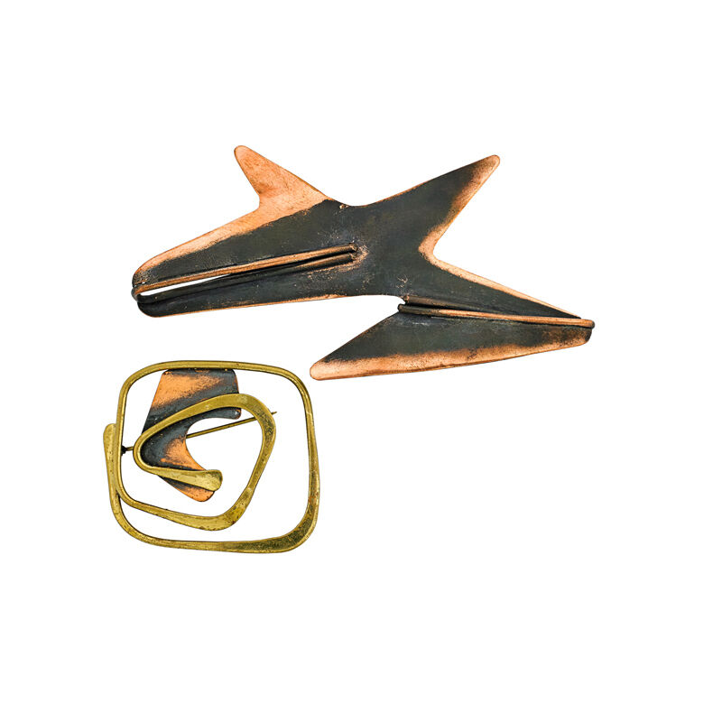 Art Smith, 'Two Brooches, New York', Jewelry, Copper, Brass, Rago/Wright/LAMA