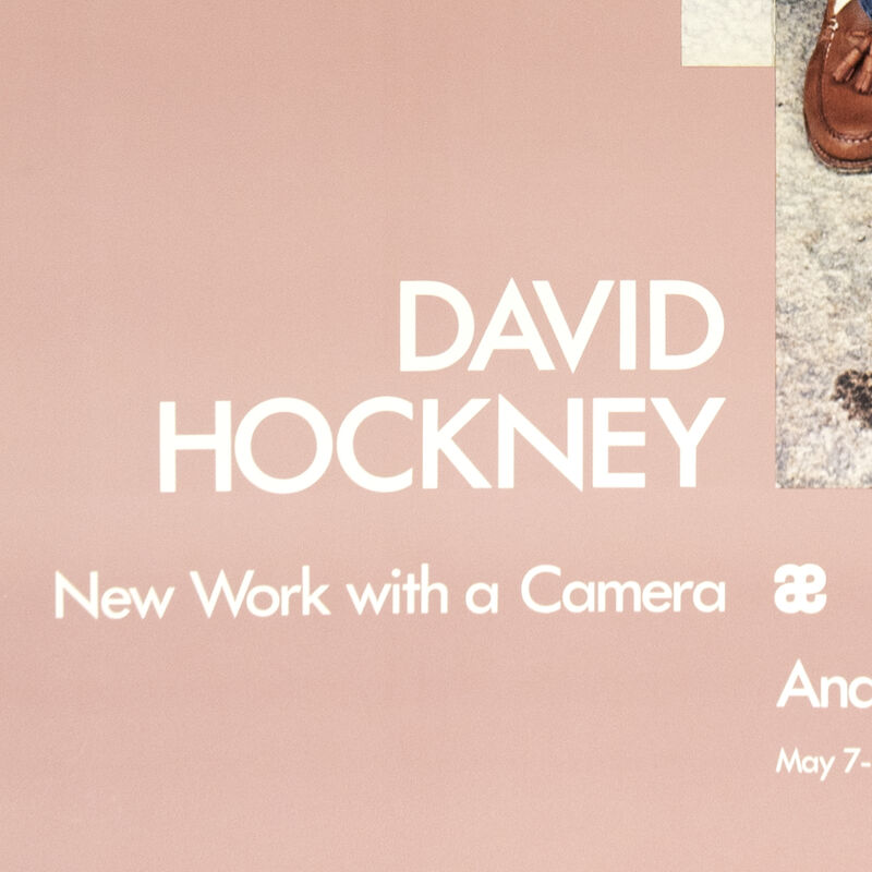 David Hockney, 'Andre Emmerich Gallery 1983 (Gregory loading his Camera 1983) ', 1983, Posters, Offset lithograph, Petersburg Press