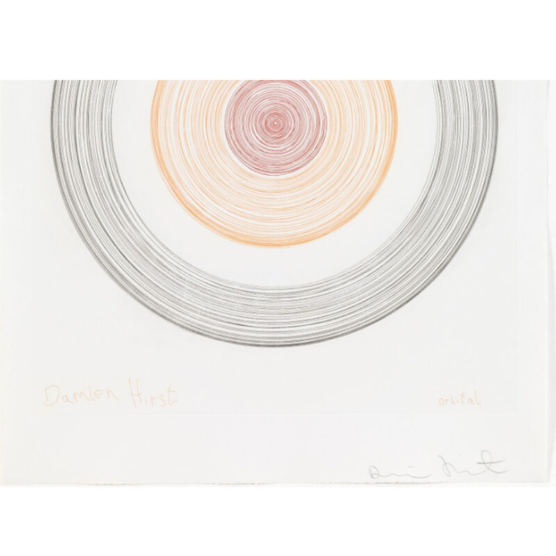 Damien Hirst, 'Orbital (from In a Spin, the Action of the World on Things, Volume I)', 2002, Print, Etching in color, Weng Contemporary