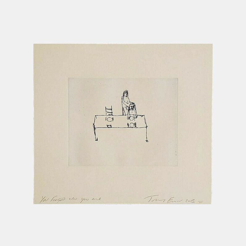 Tracey Emin, 'You Forgot Who You Are', 2013, Print, Etching on Somerset soft white paper, Lougher Contemporary