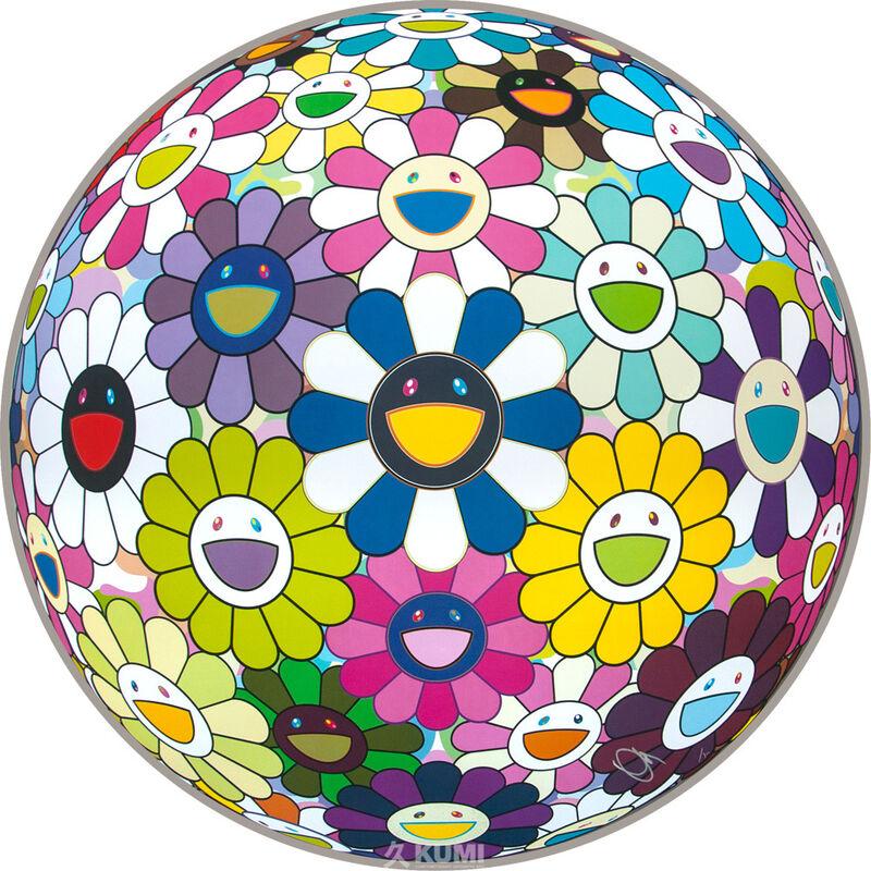 Takashi Murakami, 'Flower Ball (Awakening)', 2014, Print, Lithograph, Kumi Contemporary / Verso Contemporary