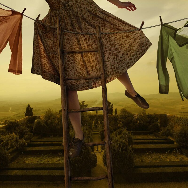 Tom Chambers, 'Pennants Over Pienza', 2012, Photography, Pigment Ink Print, photo-eye Gallery